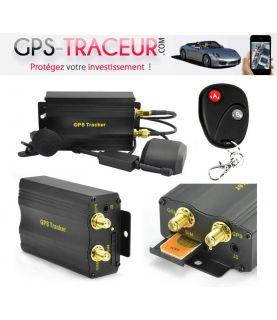 Traceur GPS Miniature Voiture / Moto - Antivol Coupe Circuit SMS  TK103B